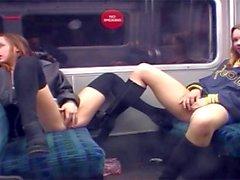 Wild flashing on the London underground
