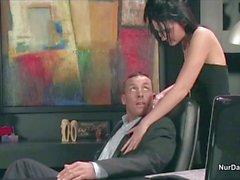 Boss fucks his horny secretary in the office