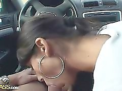 Pipe de voitures et de sperme sur les âne sexy gf