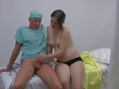 Doc Teaches Pregnant Woman How to Jerk Cock WF