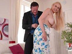 Big tits pornstar titty fuck with cum on tits