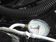 Rubber pulsating Vacuum suit