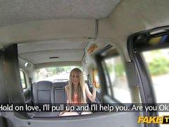 Slutty passenger nailed in the backseat