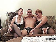 Allemand vieux Papy et Papy en privée Trio Amateur