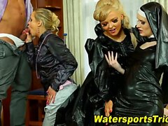Glam watersports orgy
