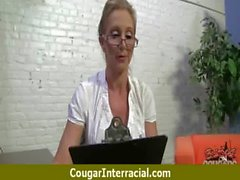 Cougar fucks a huge black monster cock 9