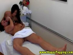 Hot asian masseuse sixtynines client