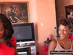 white submissive licking femdom ebony asses