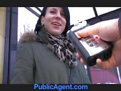 PublicAgent Jana fucks me in the car for money