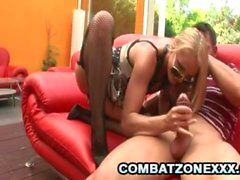 Cathy Cambel - Blonde Cop Riding A Hard Penis
