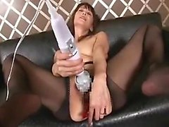 Horny wife pulls out her toys and gets one up her ass and g