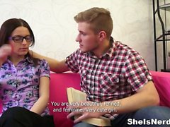 She Is Nerdy - Cumshot on nerdy glasses