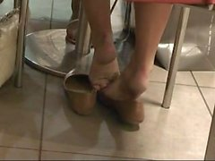 candid shoeplay ballet flats