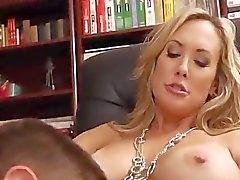 Gorgeous blonde MILF teacher shows tight bod