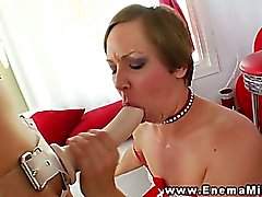 Milk enema fetish lesbians use strapon in high def