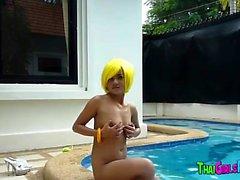 Thai hooker in the pool