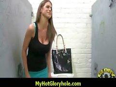 Sexy girl sucking black cock - Gloryhole Blowjob 14