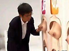 Raro asian game show nena masturbado