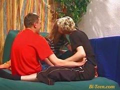 trío bisex aficionado