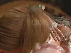 Horny slutty women get soaked in sperm