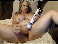 Big Natural Tits BBW Blonde Dildo & Hitachi Orgasm