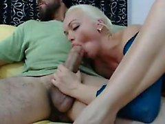 Kuumaa Blonde vaimonsa rakastavat Isot Arab penis
