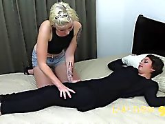 lesbian fucked in the ass during girl massage