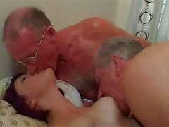 Older Guys fuck young woman