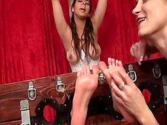 The Spanish Begger: Oiled feet tickled