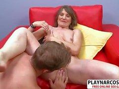 Beautiful Girlfriend Mom Donna Davidson Gives Titjob Hard Teen Stepson
