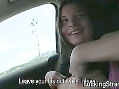 Stranded teen Anita B fucked and jizzedfor a free ride home