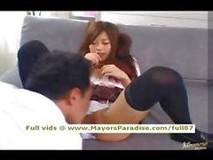 Miyu Hoshino innocenza scolaretta Chinese in fase di leccata
