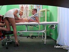 Blond nurse got her pussy creampied