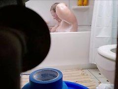 See Fat Cunt Christine taking a bath