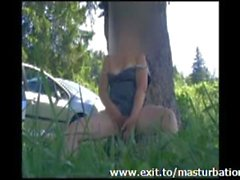 Orgasm in nature French Milf Julia