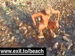 Shameless Public Nude Beach Orgy