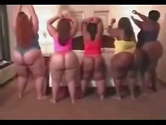 Three BBW & Two SSBBW Shaking their Big Butts!!!