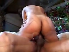 Busty ebony cheerleader gets her bald pussy and tight ass stretched wide by a giant black cock