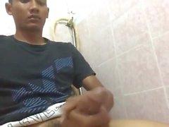 Cute Malaysian Guy wanks and cums