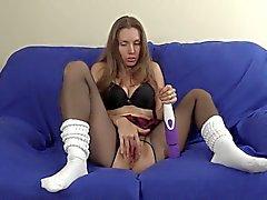 Schoolgirl Pantyhose Socks Masturbation