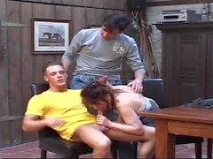 old whore double penetration by younger boys