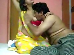 Indian couple foreplay