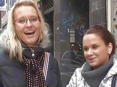 Czech street slut Alena undresses for cash