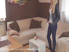 Geile Блондинка Daynia Бейма Блейзен