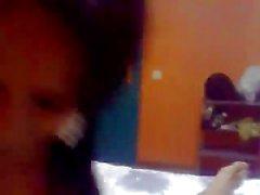 Ebony girl blowing a white cock seh love it bitch blow