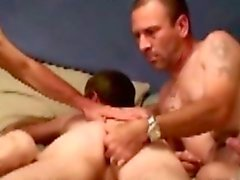 Redneck dilf bears sucking on hard cock