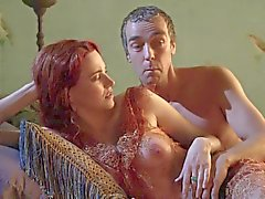 Lucy Lawless Showing Off Her Tits In A See Thrugh Top