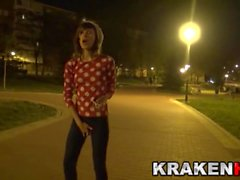 Krakenhot Outdoor Casting with a funny provocative teen
