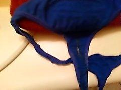 cumshot on buddy's GF dirty panties