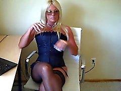 Perfect Greedy Blonde Stripper